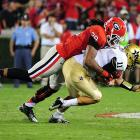 I'm struggling on Jones, and it's party his own doing. He opted not to work out at the combine, putting a lot of pressure on his coming Pro Day showing. He remains one of this draft class' most obvious talents, but lingering concerns over his health (spinal stenosis) could drive him down.