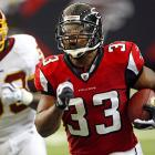 Michael Turner will seek his first new team since moving from LaDainian Tomlinson's backup to Atlanta's starter in 2008. A workhorse running back, he led the NFL in carries twice and topped 1,300 yards on the ground three times. However he showed considerable signs of wear in 2012, rushing for just 800 yards on a career-low 3.6 yards per carry. With Turner set to make a $6.4 million dent in their 2013 cap space, the Falcons cut him loose, paving the way for Jacquizz Rodgers.
