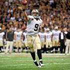 Drew Brees' historic 2011 season led to a hefty salary in 2012. Brees shattered Dan Marino's then-27-year-old record for passing yards in a season with 5,476 yards in 2011. The New Orleans Saints quarterback also set new records for completions and completion percentage. That stellar season, combined with the bad publicity of the bounty scandal, forced the Saints to meet Brees' demands with a five-year, $100-million deal and $60 million in guaranteed money. The front-loaded contract paid Brees $40 million in 2012.