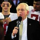 The 72-year-old former judge has a stoic courtroom demeanor, but it's hard for him not to smile: He earned almost $1.6 million in 2011; he led the movement for a college football playoff; and the SEC just won its seventh straight BCS title. With Bama favored to win number 8, and with a new TV deal (including an SEC Network) projected to reap more than $400 million, Slive may be grinning even more. (Check out the web version of the magazine and subscribe to SI.)