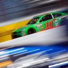 Danica Patrick drives during practice for the NASCAR Spring Cup Series Fresh Fit 500 at Phoenix International Raceway. Patrick's race didn't go nearly as well as her history-making performance at the Daytona 500 as she wrecked on lap 185 when her right front tire blew, sending her careening into the wall.