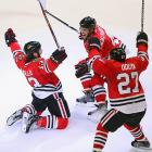 """Daniel """"Car Bomb"""" Carcillo (#13) and Co. got regular folks talkin' hockey again, rekindling the debate about the great existential question: if a tree falls in a shootout, is it still a loss?"""