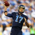 """Of all the freshman quarterbacks to see serious action in 2012, Hundley was one of the top passers of the bunch. The UCLA gunslinger threw for 3,740 yards and 29 touchdowns while rushing for nine additional scores. The fact that he recently described his performance last year as """"so ugly"""" hints at his potential in 2013. Still, defenses will zero in on him more. He'll have to compete without the threat of standout running back Johnathan Franklin in the backfield."""