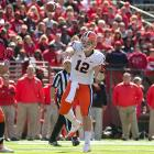 When Nassib feels comfortable in the pocket and steps into his throws, he can deliver a solid ball using his great velocity to hit narrow windows. This ability allowed him to throw for 3,749 yards and 26 touchdowns for Syracuse in 2012. However, the quarterback is prone to getting happy feet and relying to much on his arm rather than stepping into throws. This can get him into trouble and lead to dangerous passes.
