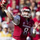 Wilson possesses solid arm strength and toughness and threw for more than 7,000 yards in two seasons as the starter for the Razorbacks. Like Barkley, his numbers declined in his senior year, likely due to the firing of head coach Bobby Petrino and the departure of his top two receivers after 2011.