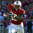Taylor showed last season that even without the distraction of Andrew Luck, he could run over defenses, gaining 1,530 rushing yards and catching 41 passes for 287 yards. That ability to catch passes and his pass blocking foster Taylor's draft stock as a three-down back. He demonstrated solid quickness hitting holes at Stanford but not the top speed necessary to break away in the NFL once through the hole.