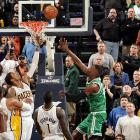 Green got wide open on a cut to the basket and made a layup with 0.5 seconds left as the Celtics capped a stunning comeback to edge the Pacers 83-81 in Indianapolis. Boston scored the last 11 points and held Indiana scoreless for the final 4:35.