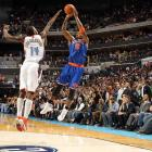The first of Smith's two buzzer beaters in December came on a step-back jumper over Michael-Kidd Gilchrist to send the Knicks to a 100-98 victory in Charlotte. Smith got the call for the final shot after Carmelo Anthony left the game two minutes earlier with a finger injury.