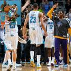 Despite being the under the weather, the Hornets' forward and No. 1 pick in the 2012 draft scored his first career game-winner on a last-second tip-in to beat the Celtics 87-86 in New Orleans.