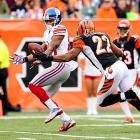 In his only Birthday Game, Giants wide receiver Victor Cruz had one of the most forgettable days of his 2012 season. Cruz, who turned 26, matched his age in receiving yards (26 yards on three catches) in New York's 31-13 loss to Cincinnati. Worse, he dropped what would have been a 38-yard touchdown pass.