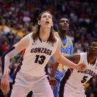 Gonzaga's Kelly Olynyk awaits a chance for a rebound in the Zags' close win over Southern.