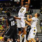 Justin Tuoyo gets ready to throw down in the easy win over Akron. VCU led 50-25 at the half.