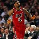 Miami scored its fewest points in a victory all season but still managed to roll past a Bulls team that was in the midst of a 3-6 stretch. Chicago committed 27 turnovers and wasn't able to cool off LeBron James, who made 11-of-15 shots and scored 26 points.