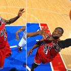 Miami pushed its streak to 10 as Dwyane Wade scored 33 points and LeBron James recorded a triple-double of 16 points, 11 assists and 10 rebounds.