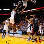 In keeping with their habit of letting lottery-bound teams hang around in Miami, the Heat needed a go-ahead layup from LeBron James with 3.2 seconds left to slip past Orlando. That spoiled a fine effort from the shorthanded Magic, who rallied from a 20-point third-quarter deficit, got 25 points and 21 rebounds from Nikola Vucevic and held Miami to 43.2 percent shooting.