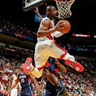 No lead squandered or furious comeback needed this time: Miami led wire-to-wire against the slumping Hawks, relying on 23 points, six assists and five steals from Dwyane Wade on a night when LeBron James made only 3-of-11 shots and scored 15 points in 30 minutes.