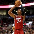 The Heat bumped the streak to 22, matching the 2007-08 Rockets for the second longest in NBA history. The game was tied at 77-77 one minute into the fourth quarter, but Ray Allen scored 16 of his 20 points the rest of the way (including four three-pointers) to spark Miami.