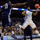 UNC's PJ Hairston drives to the basket in the Tar Heels' game against Villanova Friday.
