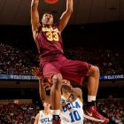 Minnesota's Rodney Williams finishes a dunk in the Gophers' win over UCLA. Williams had four points and three rebounds in the game.