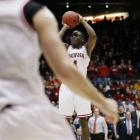 <bold>Defeated James Madison 83-62</bold> <bold>Defeated Temple 58-52</bold> <bold>Next: vs. Syracuse </bold>(<bold><italics>SI's live bracket</italics></bold>) <bold>Victor Oladipo nailed this three with 13 seconds left to help Indiana put away Temple.</bold>