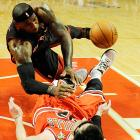 LeBron James and the Heat saw their 27-game win streak come to an end in Chicago, as the Bulls used an aggressive style of defense to help make up for the absence of four key regulars to win 101-97. With the loss, Miami fell six games short of tying the all-time 33-game run of 1971-72 Lakers.