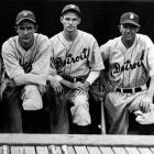 Long-time Tigers star hurler Bridges (center) set down the first 26 Senators he faced on Aug. 5. The 27th man was pinch-hitter Dave Harris, who would finish the season with a .327/.400/.538 batting line in 177 plate appearances. Harris singled. Bridges then retired Hall of Famer Sam Rice to finish Detroit's 13-0 win.
