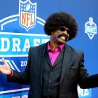 The paparazzi were abuzz when Sideshow Bob made a shock appearance at the NFL Draft.
