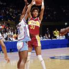 Miller gained fame in high school for scoring 105 points in a game, and she didn't disappoint in her time at USC. She was a three-time Naismith Player of the Year winner and led the Trojans to two national titles.