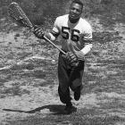 Brown might be the best ever in two sports. In football, he ran for nearly 1,000 yards as a senior in only eight games. In lacrosse, he led the nation with 43 goals in 1957. He's a Hall of Famer in both sports. He also played two seasons of basketball at Syracuse and occasionally competed in the decathlon for the track team.