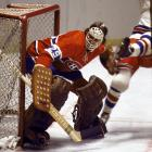 """Ned Harkness, Dryden's coach at Cornell, said """"It was pretty easy behind the bench when he was in goal."""" Cornell went 76-4-1 with Dryden between the pipes, and he led the team to a title in 1967 and a runner-up finish in 1969. He posted a 1.59 goals against average for Cornell. He later won the Vezina Trophy as the NHL's best goalie five times in his pro career."""