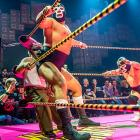 The Mayan Theatre in downtown Los Angeles hosted a disorienting mix of masked Mexican professional wrestling, comedy, striptease, mariachis, Aztec dancers, tequila, and tamales from outer space. If you're beginning to doubt what we are saying, you are probably hallucinating.
