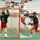 The four-time All-America at Syracuse is still remembered for his signature move, the Air Gait, which is now illegal at the NCAA level. He used the move in one of lacrosse's most famous plays, during the 1988 national semifinals against Penn. Gait caught the ball behind the net, maneuvered right and then jumped from outside the crease before drilling the ball into the upper corner of the goal. Syracuse would win the national title that season -- the first of three straight. Gait also won the first of two National Player of the Year awards that season.