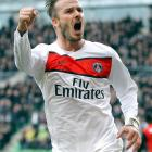 "Beckham joined French superclub Paris Saint-Germain in February 2013. On May 16, having started just four games for the club, including a Champions League quarterfinal match against Barcelona, the 38-year-old Beckham announced he would retire at the end of the season. ""I'm thankful to PSG for giving me the opportunity to continue but I feel now is the right time to finish my career, playing at the highest level,'' the former England captain said in a statement."