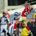 Nate Clements has played on his birthday twice and celebrated both by coming up with an interception. In 2010, on his 31st birthday, he was one of the four 49ers who picked off Matt Hasselbeck in a 40-21 victory over Seattle. In 2004, on his 25th, he intercepted Cleveland starter Luke McCown during a 37-7 Buffalo win.