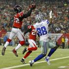 Dez Bryant experienced the least productive day of his 2012 season in his only Birthday Game. Asante Samuel denied the 24-year-old birthday boy of this would-be touchdown reception in Atlanta's 19-13 victory. Bryant would finish with a season-low one catch for 15 yards in the game.