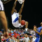 He struggled with the NBA three-pointer and didn't distinguish himself in any of the drills at the draft combine, looking every bit like a player forced to come out of college because of the vaunted recruiting class coming in behind him. Still, the lanky Goodwin showed flashes of Jamal Crawford-like potential at Kentucky, and executives see good defensive skills.