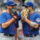 """Thanks to the wonders of mic'ed up gloves, viewers were treated to the following exchange: Niese: """"Heywood leads the league in most offensive categories, including nose hair. When this guy sneezes, he looks like a party favor."""" Wright: """"Well listen, if we ever get out of here, me and the other guys are going to a club later on tonight. You want to come with us?"""" Niese: """"What I was concerned with was why you didn't come up with that grounder that Rockert hit in the ninth."""" Wright: """"It was out of my reach, what do you want me to do dive for it?"""""""