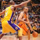 In 2010, Hill earned the first series victory of his career as the Suns defeated the Blazers in six games. Phoenix would make it all the way to the Western Conference finals, where they fell to the Kobe Bryant-led Lakers in six games.