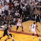 Parker hit this game-sealing bank shot with five seconds left in Game 1 of the NBA Finals. The Spurs won 92-88.