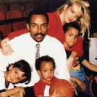 Tony with his younger brothers, Terence and Pierre, his mother, Pamela Firestone, who modeled in Europe, and his father, Tony Sr., a star guard at Loyola (Chicago) from 1973 to '77 and who played professionally overseas for 15 years.