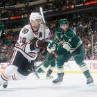 As the top seed in the West, the Blackhawks drew the Minnesota Wild, who they dispatched rather easily, thanks in part to Patrick Sharp. The winger, who had just six goals during the regular season, scored five times in the five games.