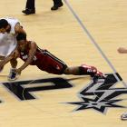 Norris Cole made a great hustle play to steal this ball from Cory Joseph.