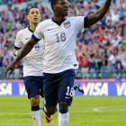 Eddie Johnson celebrates his second-half goal, which doubled the United States' lead over Panama.