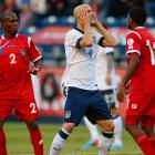 U.S. midfielder Michael Bradley reacts after a missed shot.