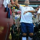 Dempsey takes the field prior to the United States' match against Brazil at FedEx Field in Washington, D.C. Brazil defeated the U.S., 4-1.