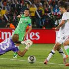 Dempsey had his shot rejected by goalkeeper Rais Bolhi in stoppage time before teammate Landon Donovan cleaned up the rebound and sent the United States to a 1-0 win over Algeria and the top of Group C.