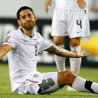 Dempsey frustrated with the referee during a Gold Cup vs. Panama match at Raymond James Stadium in Tampa.