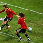 Dempsey beats goalkeeper Iker Casillas to give the United States a 2-0 lead over Spain in the semifinals of the 2009 FIFA Confederations Cup in South Africa.
