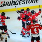 The Blackhawks were playing in their second consecutive multi-overtime game. They had eliminated the Los Angeles Kings in 2-OT in Game 5 of the Western Conference Finals.
