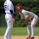 Pitchers are usually an easy out, but Lee hit a respectable .212 in 33 games for the Phillies in 2009, including this double.